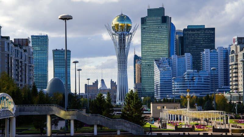 Środkowy bulval w Astana fotografia royalty free
