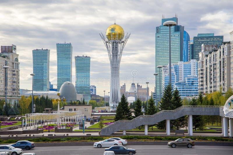 Środkowy bulval w Astana obrazy stock