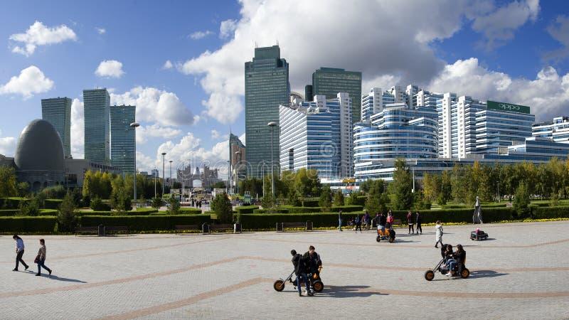 Środkowy bulval w Astana obrazy royalty free