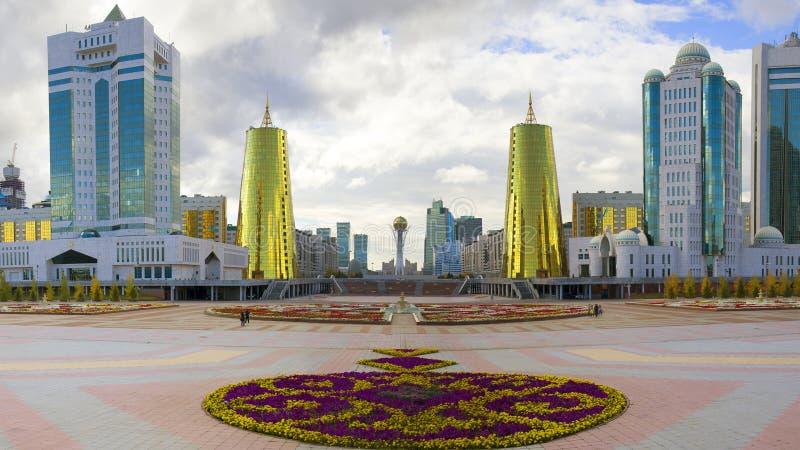 Środkowy bulval w Astana zdjęcia stock