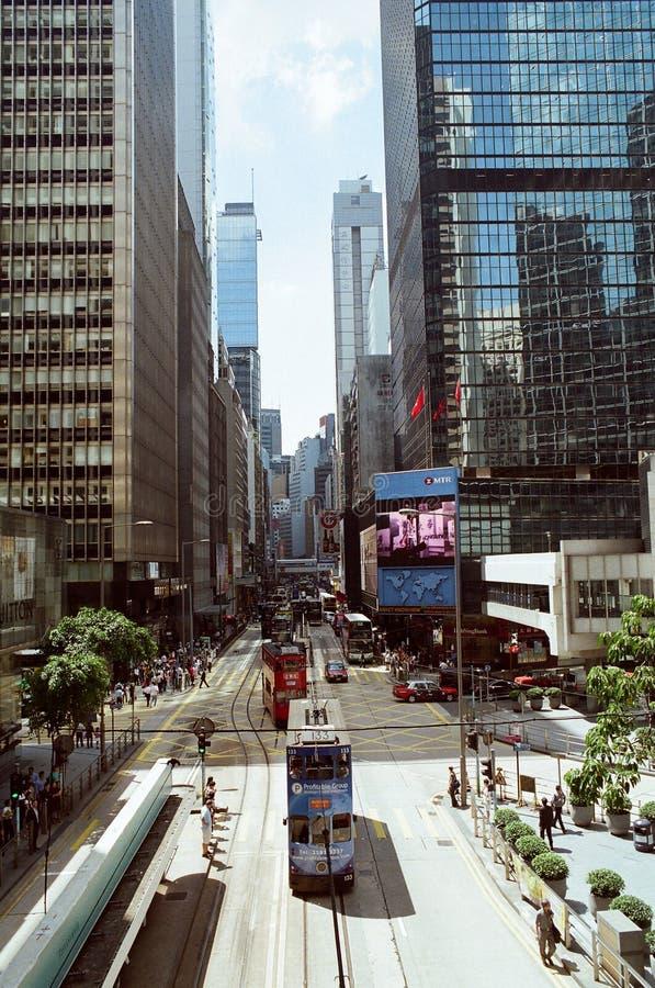 środkowy gromadzki Hong kong ulicy widok zdjęcia royalty free