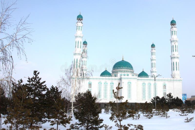 Środkowy katedralny meczet Karaganda, Kazachstan zdjęcia royalty free