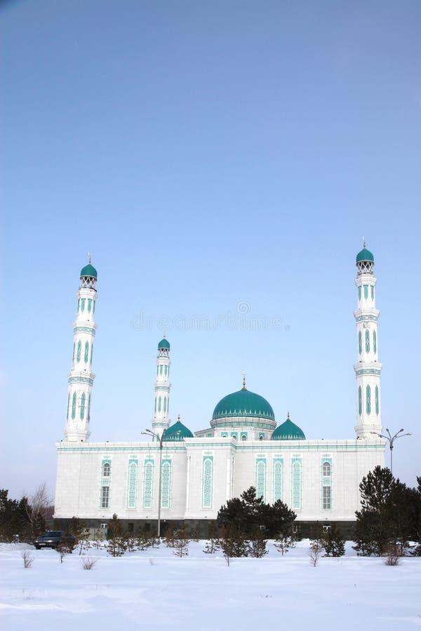 Środkowy katedralny meczet Karaganda, Kazachstan obraz royalty free