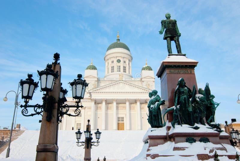 środkowy kościelny Helsinki lutheran kwadrat obrazy royalty free