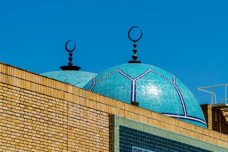 Środkowy meczet Lisbon Mesquita centrala de Lisboa Jest Głównym meczetem Słuzyć miastu Islamskiej społeczności zdjęcia royalty free
