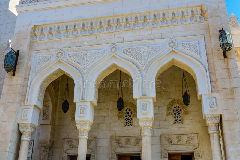 Środkowy meczet w El Dahar okręgu Hurghada miasto, Egipt zdjęcia stock
