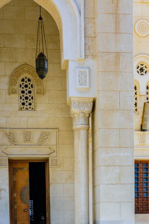 Środkowy meczet w El Dahar okręgu Hurghada miasto, Egipt zdjęcie stock