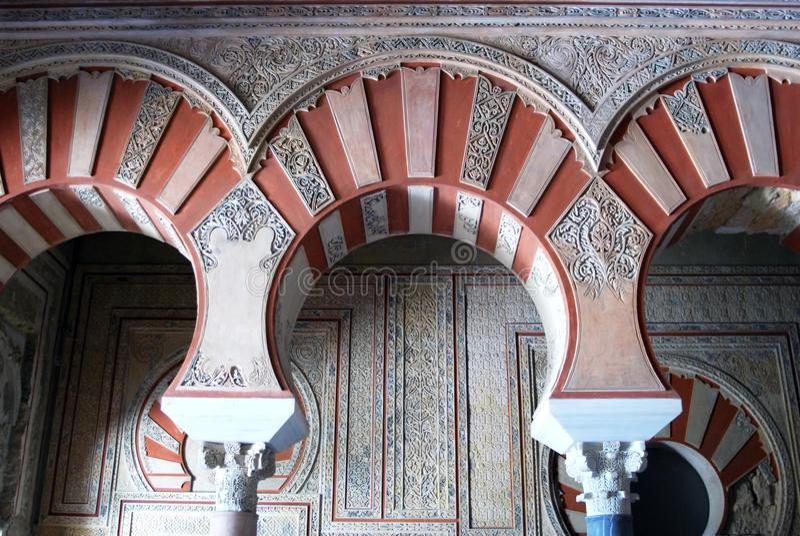 Środkowy Nave, Medina Azahara zdjęcia royalty free