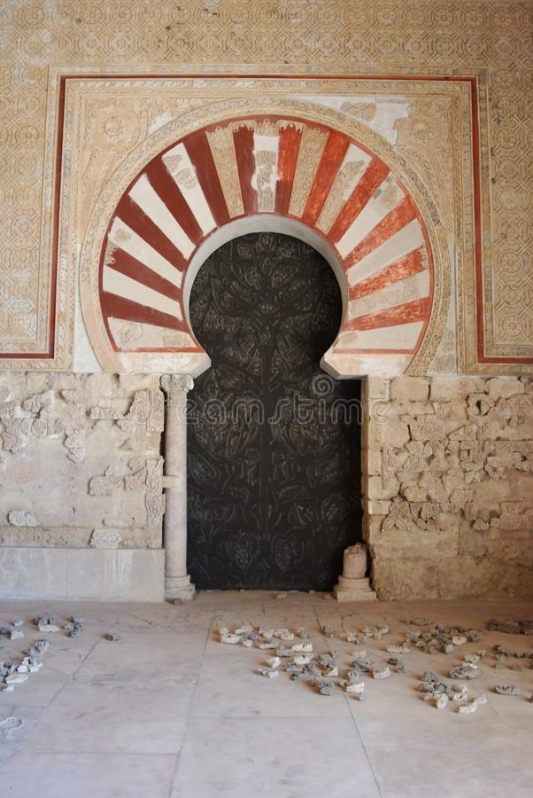 Środkowy nave, Medina Azahara, Hiszpania. zdjęcia royalty free