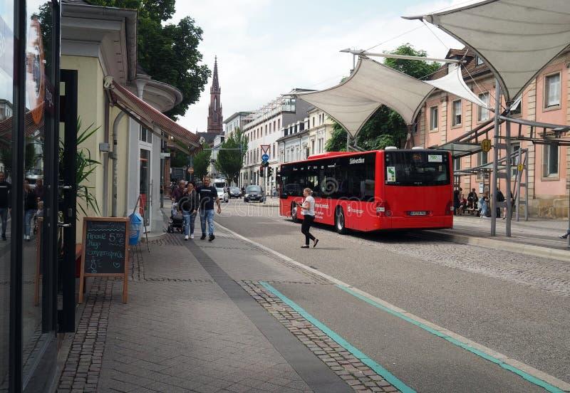 Środkowy przystanek autobusowy w Offenburg, Niemcy zdjęcia stock