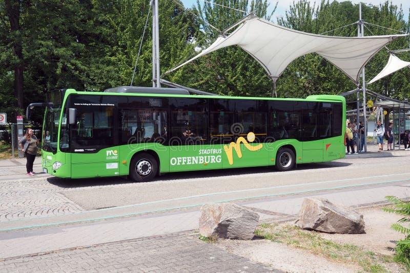 Środkowy przystanek autobusowy w Offenburg, Niemcy fotografia stock