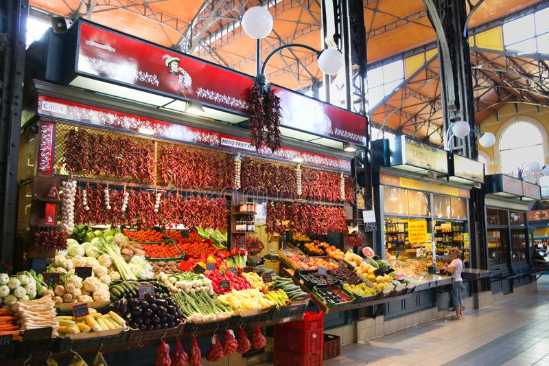 Środkowy rynek Hall Budapest Węgry fotografia royalty free