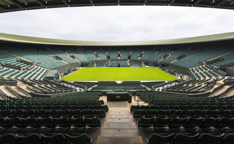 Środkowy sąd przy Wimbledon miejscem obraz royalty free
