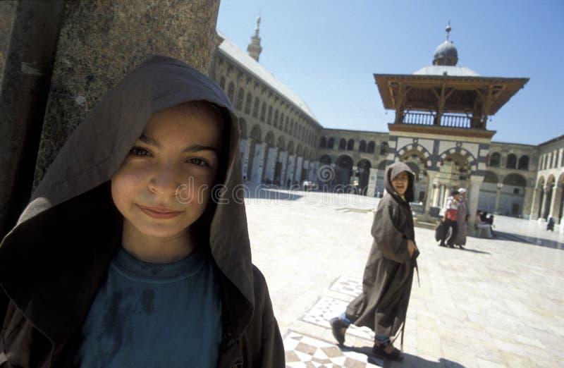 ŚRODKOWY WSCHÓD SYRIA DAMASKUS UMAYYAD meczet obrazy royalty free