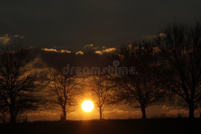 Środkowy Zachód wschód słońca nad Linn okręgu administracyjnego wsią zdjęcie royalty free