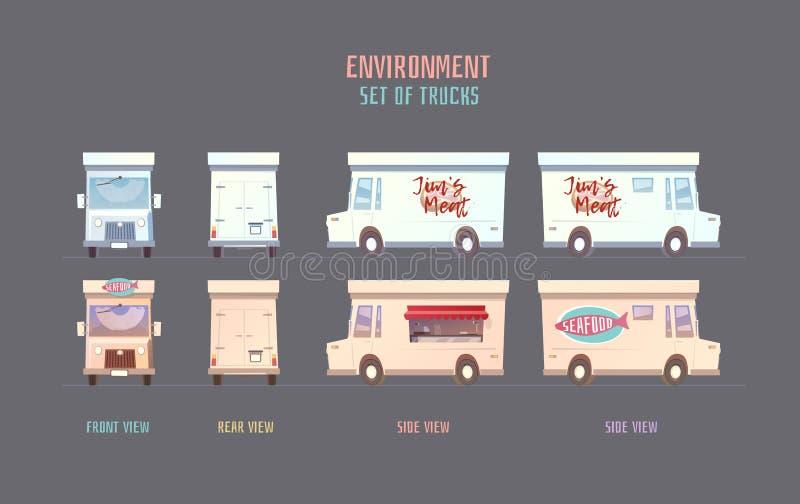Środowisk wektorowi elemets dla gry ilustracji