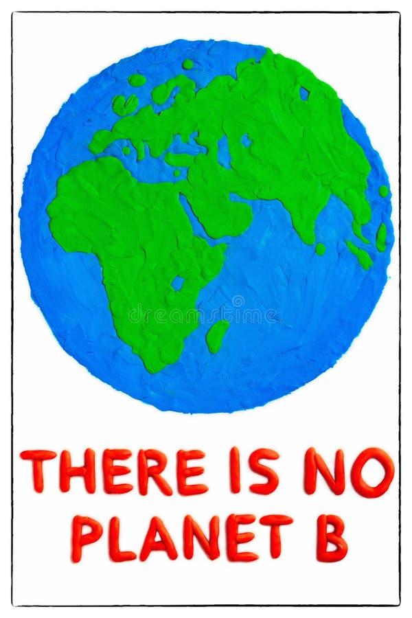Środowisko dnia pojęcia -noplanetb Tam jest ?adny planety b obrazy stock