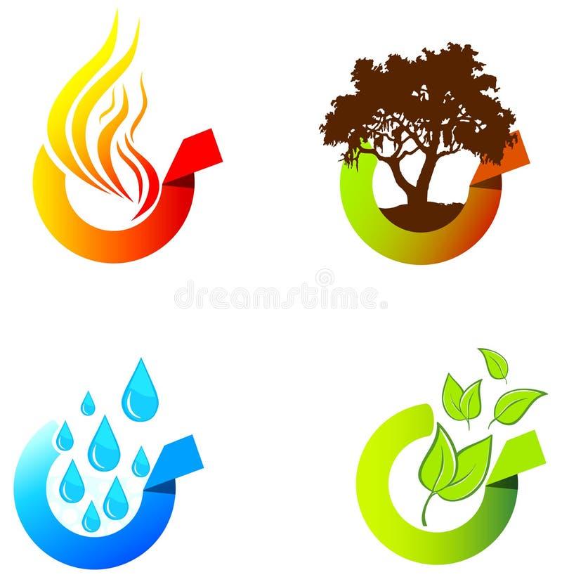 środowisko etykietki ilustracji