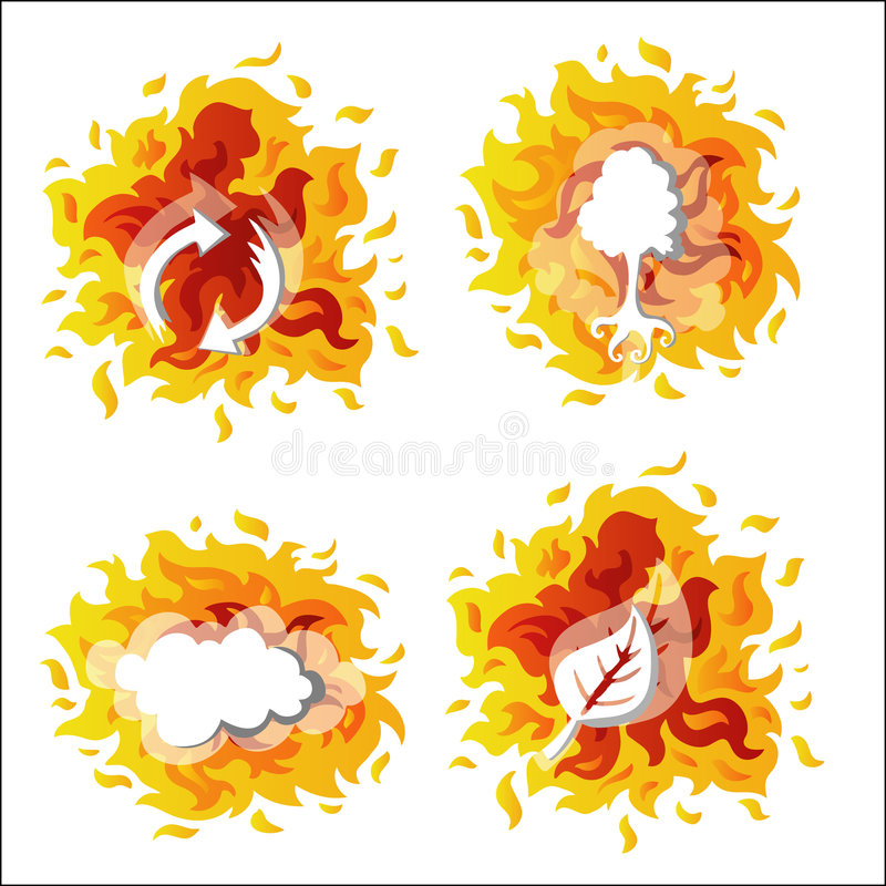 środowisko ogień ilustracji