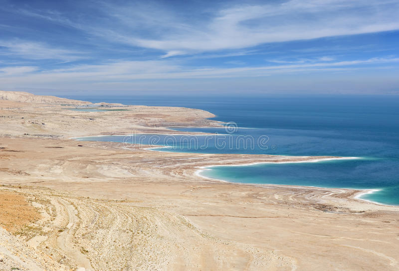 Środowiskowa katastrofa na Nieżywym morzu, Izrael zdjęcia stock