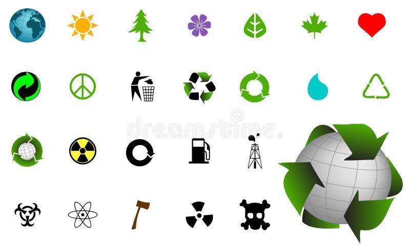 środowiskowe ikony royalty ilustracja
