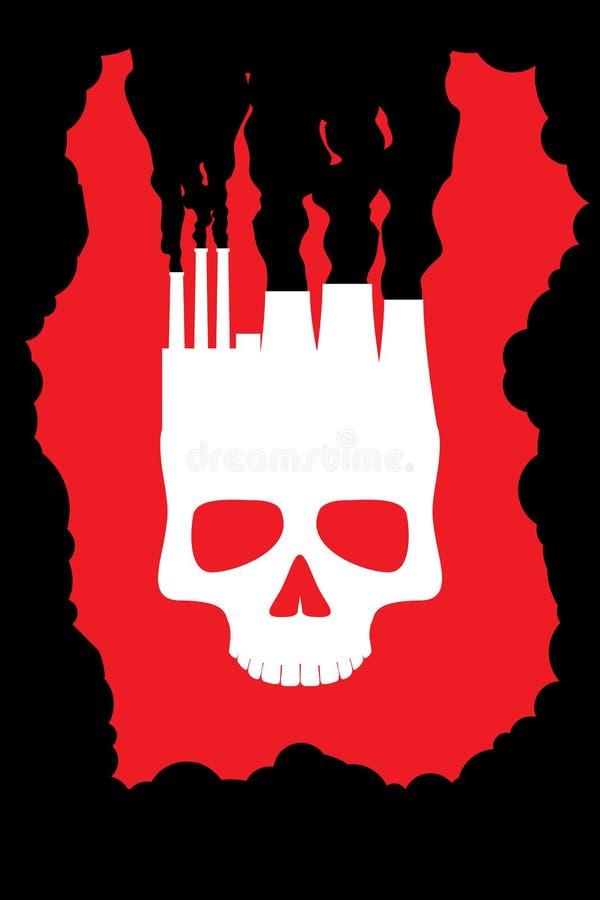 Środowiskowy kontaminowanie ilustracji