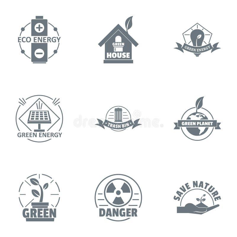 Środowiskowy loga set, prosty styl ilustracji