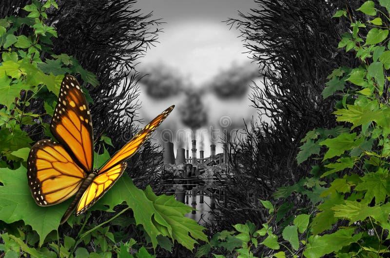 Środowiskowy zniszczenie siedlisko royalty ilustracja