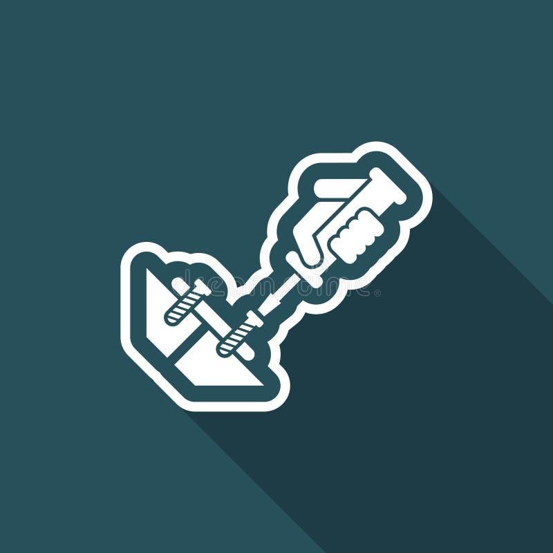 Śrubokręt ikona ilustracja wektor
