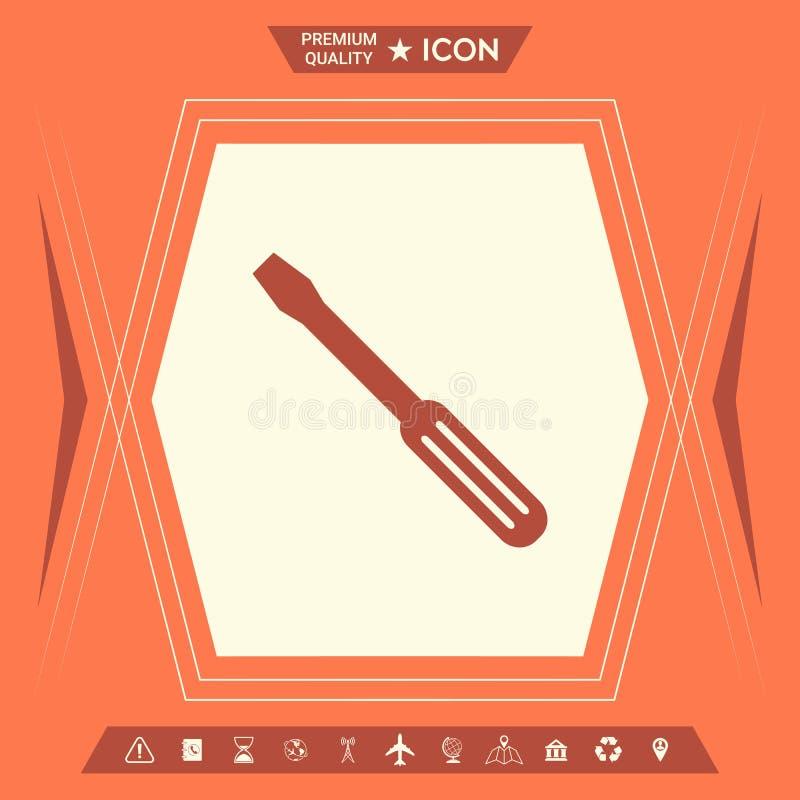 Śrubokręt ikony symbol ilustracji