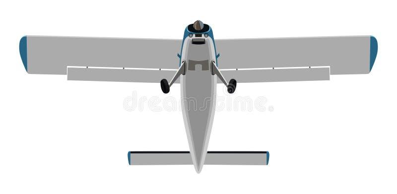 Śrubowy dolny samolot royalty ilustracja