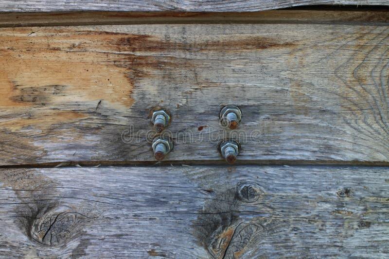 Śruby i rygle na drzwi fotografia royalty free