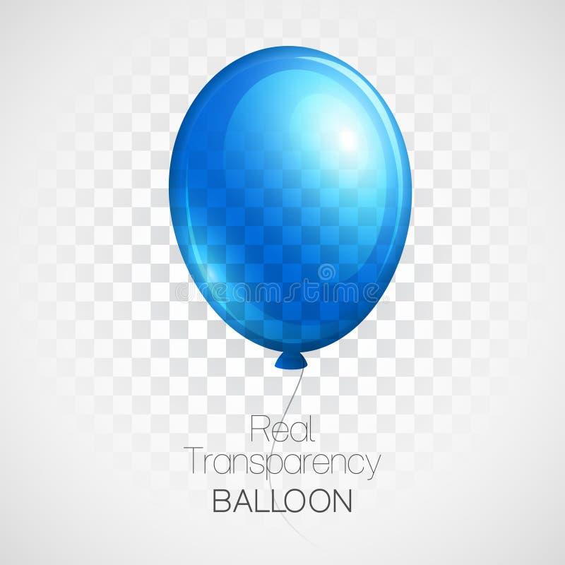 Świąteczna balonu reala przezroczystość wektor royalty ilustracja