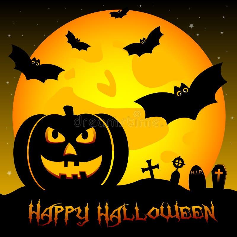 Świąteczna ilustracja na temacie Halloween Życzenia dla Szczęśliwego Halloween sztuczka przysmaki royalty ilustracja