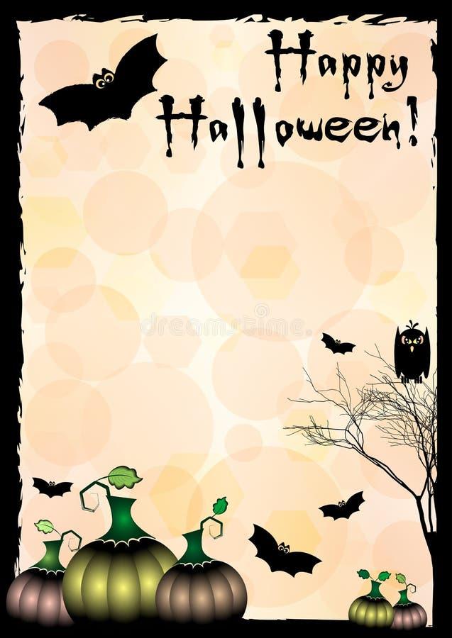 Świąteczna ilustracja na temacie Halloween Życzenia dla Szczęśliwego Halloween sztuczka przysmaki ilustracji