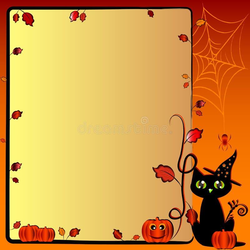 Świąteczna ilustracja na temacie Halloween z polem dla teksta ilustracji