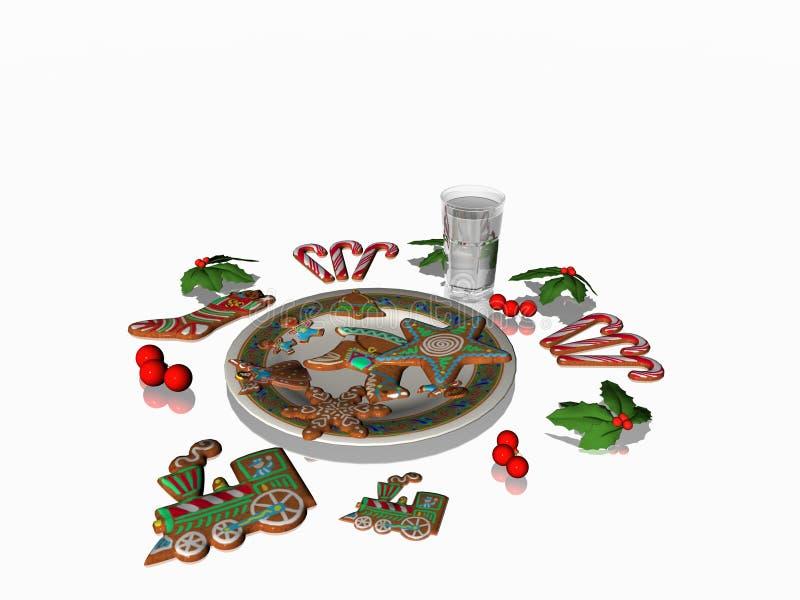 świąteczne ciasteczka pobierania ilustracja wektor