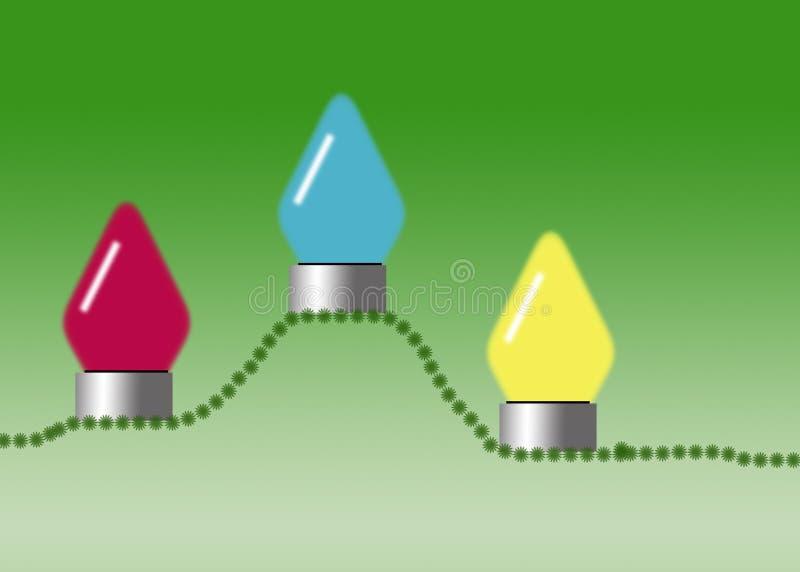 świąteczne lampki ilustracja wektor