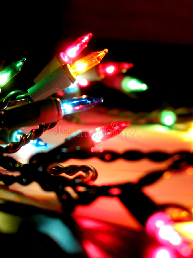 świąteczne lampki fotografia royalty free