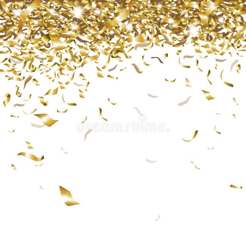 Świąteczni confetti royalty ilustracja
