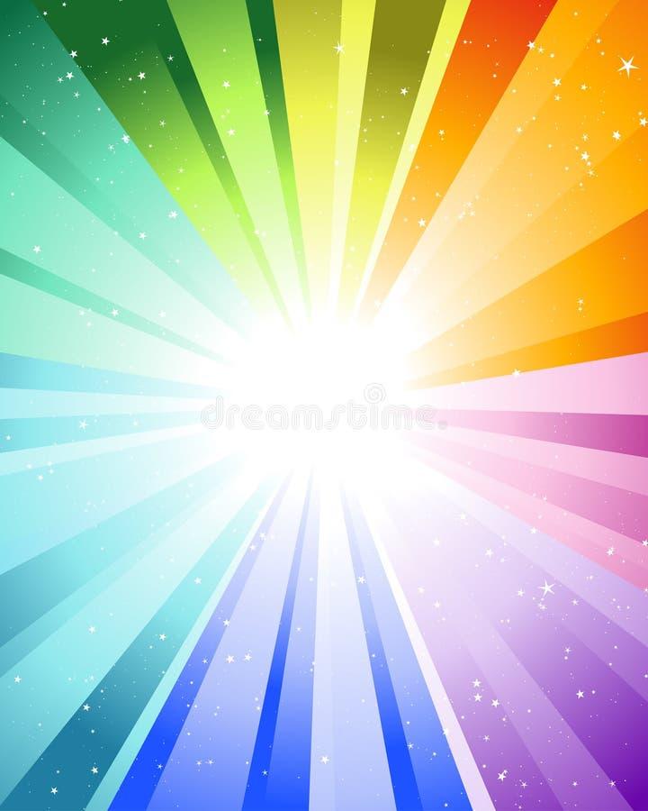 świąteczni kolorów promienie ilustracja wektor