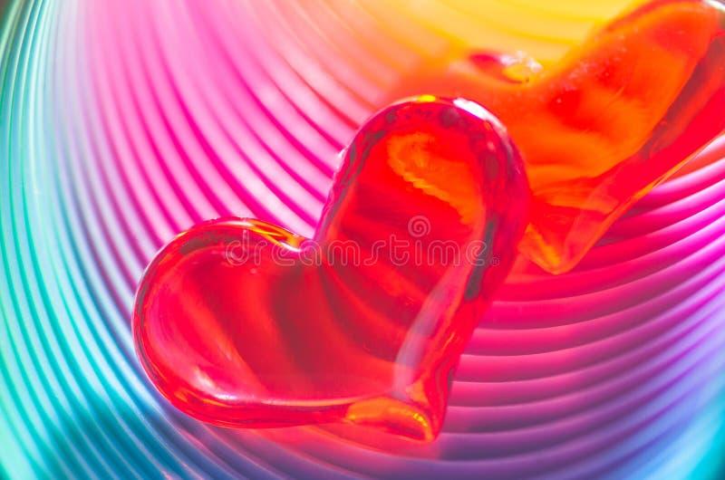 Download Świąteczni Tęczy Walentynki Serca Zdjęcie Stock - Obraz złożonej z spektralny, menchie: 28957274