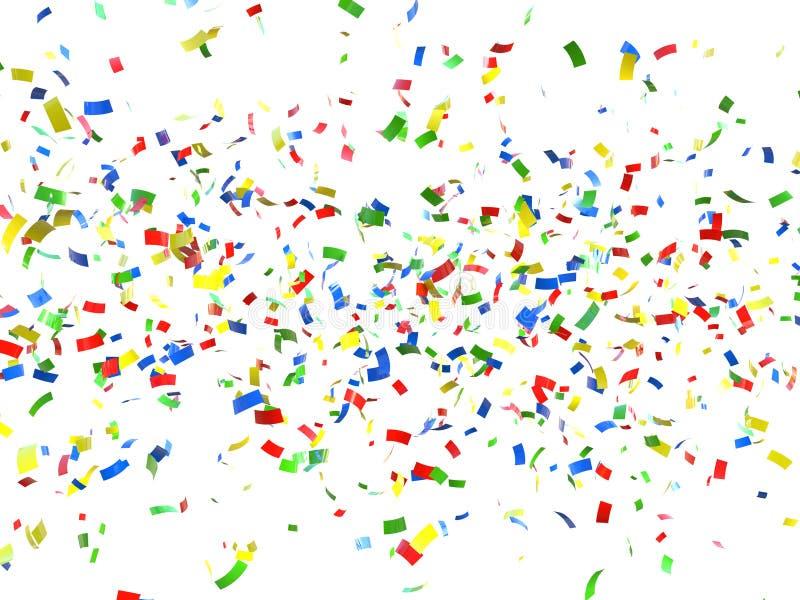 świąteczni tło confetti ilustracji