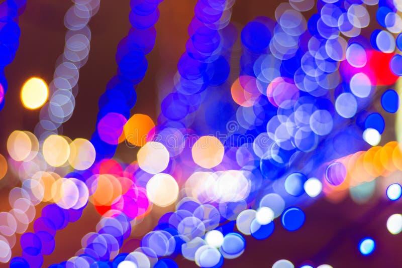 Świąteczny światło w defocus Tło Bokeh obraz royalty free