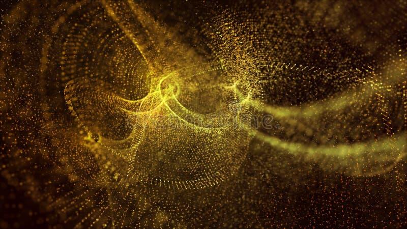 Świąteczny błyskotliwość rocznik zaświeca abstrakcjonistycznego tło, jaskrawy i jarzeniowy kolor żółty i złocisty kolor może używ royalty ilustracja
