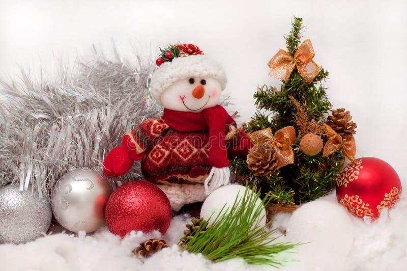 świąteczny bałwan obraz royalty free