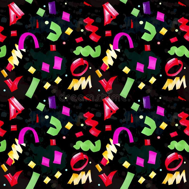 Świąteczny bezszwowy wzór z multicolor confetti royalty ilustracja