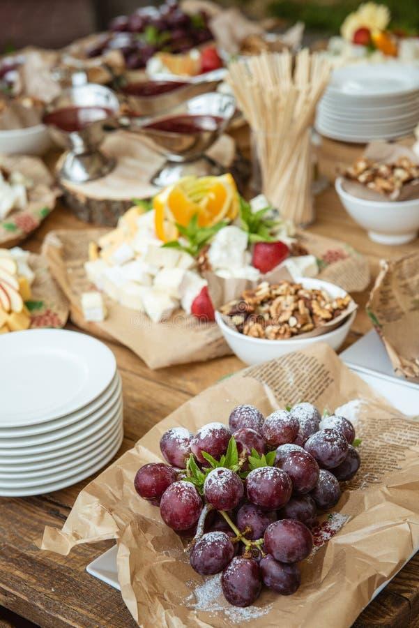 Świąteczny bufet rolniczy artykuły żywnościowy fotografia stock