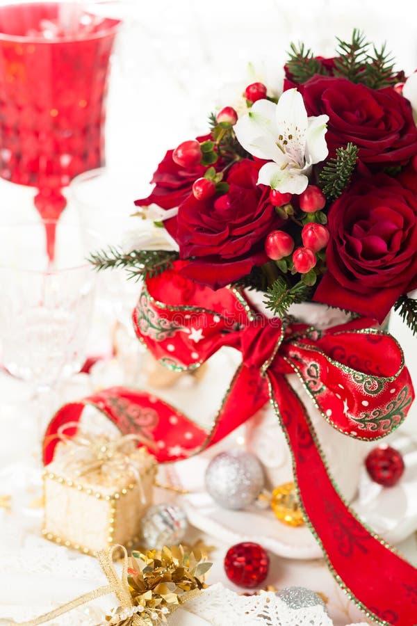 Świąteczny bukiet dla bożych narodzeń zdjęcie royalty free