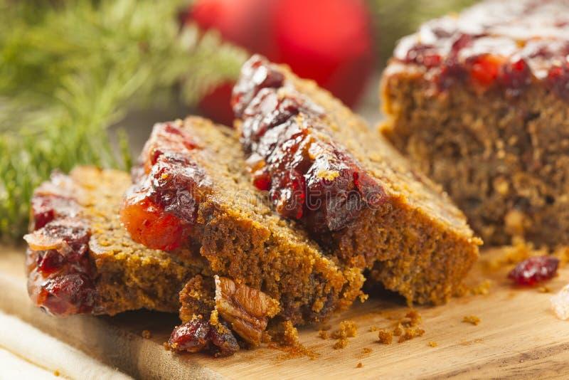 Świąteczny Domowej roboty Wakacyjny Fruitcake zdjęcia stock